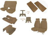 85-90 Trans Am/ Firebird Tan Cloth Interior Kit (Door Panels w/ Map Pocket)
