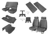 85-90 Trans Am/ Firebird Light Charcoal Cloth Interior Kit (Door Panels w/ Map Pocket)