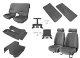 85-90 Trans Am/ Firebird Light Charcoal Cloth Interior Kit (Door Panels w/ Map Pocket)