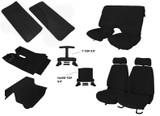 85-90 Trans Am/ Firebird Black Cloth Interior Kit (Door Panels w/ Map Pocket)
