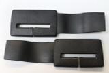 Camaro/Firebird 82-92 Seat Belt Headliner Upper Trim Guide, Black, New Reproduction, PAIR