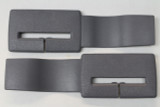 Camaro/Firebird 82-92 Seat Belt Headliner Upper Trim Guides, Gray, New Reproduction, PAIR