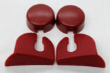 **CLEARANCE** Camaro/Firebird 82-92 Rear Hatch Strut Cover Trim Kit, Red, New Reproduction