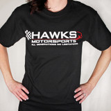 Hawks Motorsports T-Shirt, Black with Logo