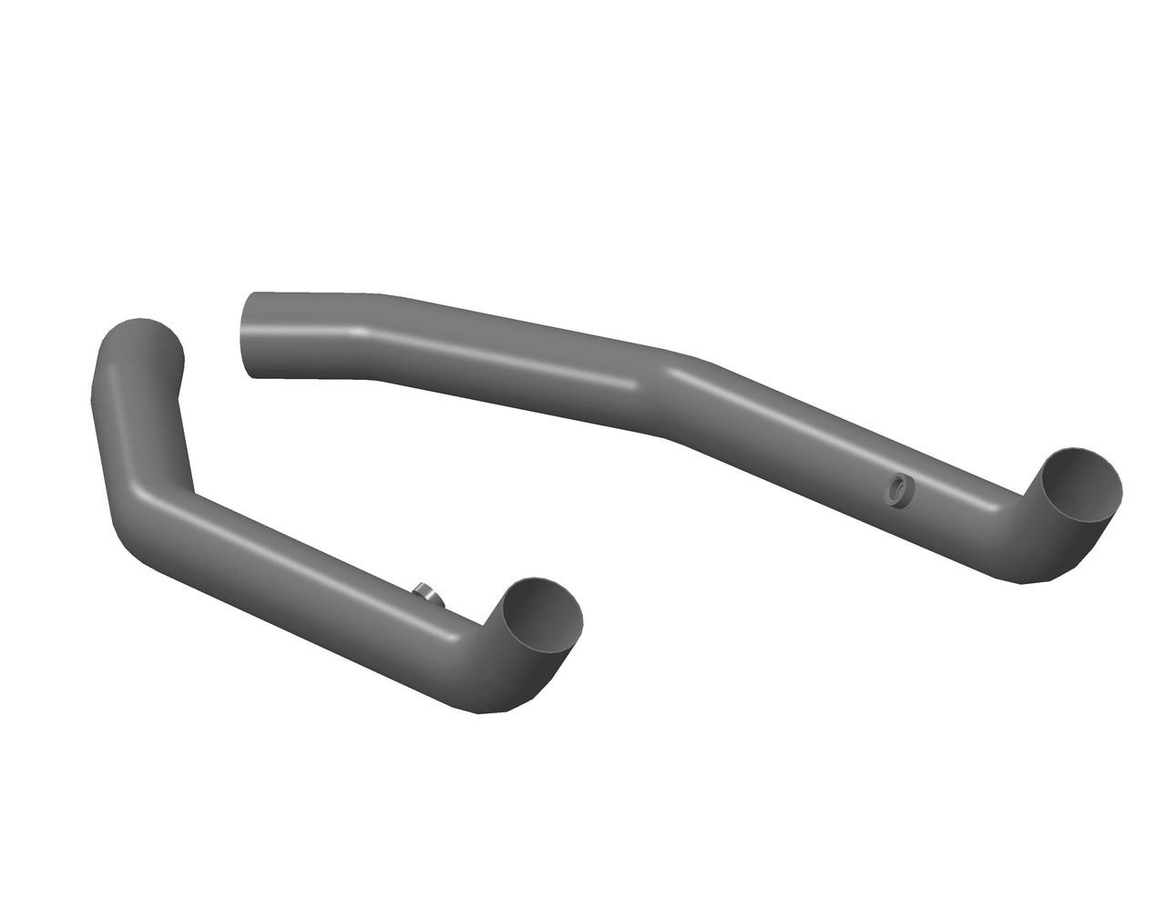 """hooker adapter pipe, 3"""" mid-pipe adapter kit fits long-tube headers"""