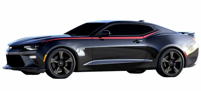 2016 Chevrolet Camaro Side Spear Decal Stripes Hawks