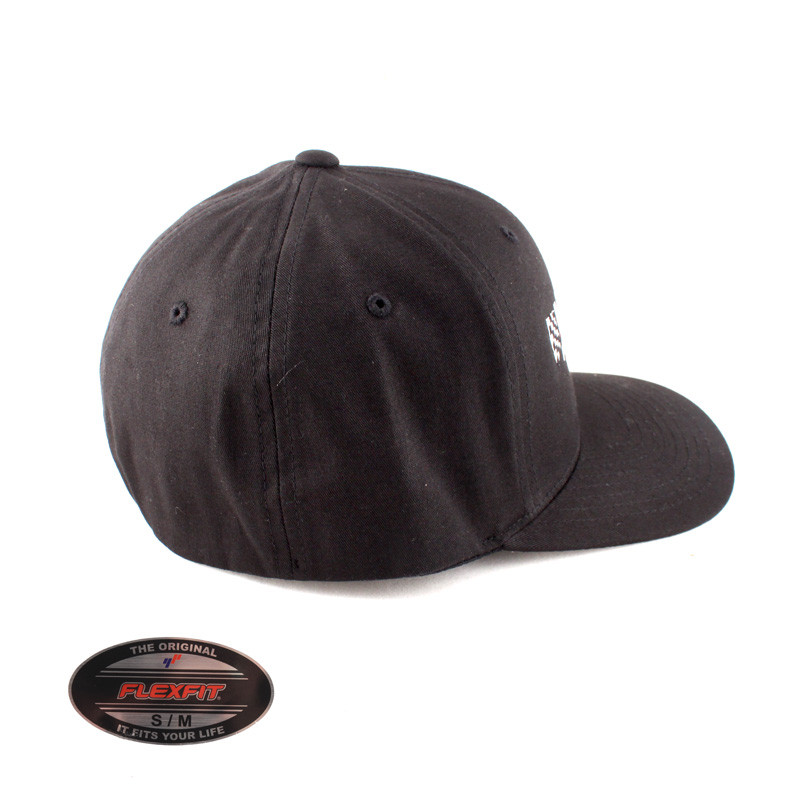 Hawks Motorsports Athletic Shape Hard Buckram FlexFit Hat - Black ...
