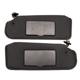 1993-2002 Camaro/Firebird Ebony Black Sun Visors, Pair New GM NOS