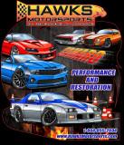 T-Shirt, Hawks Motorsports T-Shirt All Camaro, Black