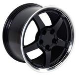 Corvette Deep Dish C5 Wheels, Staggered 17x9.5 / 18x10.5 Black,  Set of 4