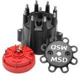MSD Distributor Cap, GM V8, HEI, 82-86 Late Model, Small Diameter Cap & Rotor Kit