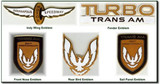 Turbo Trans Am 1989 Emblem Set
