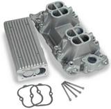 Weiand Stealth Ram Intake Manifold TPI, Satin, Stealth Ram Intake Manifold 1957-86; 262-400 SBC V8, 1987-later with aluminum heads - satin