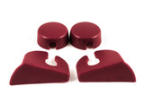 82-92 Camaro / Firebird Rear Hatch Strut Cover Trim Kit, Red, New Reproduction