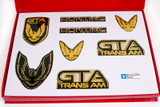 Firebird 87-90 GTA Emblem Set, Black