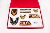 Firebird 87-90 GTA Emblem Set, Flame Red