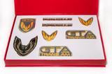 Firebird 87-90 GTA Emblem Set, Gunmetal Gray