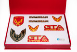 Firebird 87-90 GTA Emblem Set, BRIGHT RED