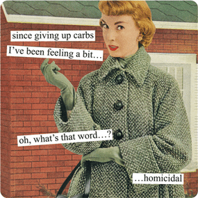 Giving Up Carbs Magnet