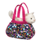 purse, gift for young girls, cat, white, sassy sack