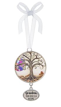 ornament, christmas,  inspirational, butterfly, winter, seasonal, holiday, grandma, grandmother, love, blessing