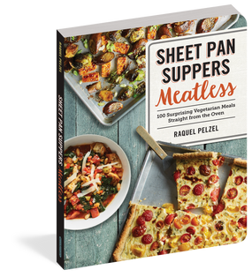 cookbook, recipe book, sheet pan, meatless