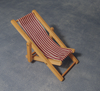 Red & White Striped Deck Chair