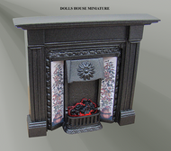 The Coalbrookdale Plain Cast Iron Fireplace with Bulb (F4C)