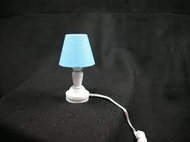 Bedroom Table Lamp in Blue