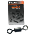 Ace Rig Swivels x 20 (Matt Black)