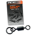 Ace Flexi Ring Swivels x 10 (Matt Black)