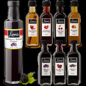 Linn's Flavored Vinegars: Olallieberry Balsamic, Aged Fig, Olalliberry, Apple Cinnamon, Pomegranante Balsamic, Sweet Cherry Balsamic, Blood Orange