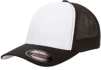 6511W Blank Flexfit Hat Mesh Cotton Twill Trucker Cap