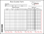Raw Scores Form