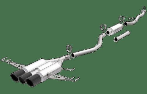 Honda Civic | Type R | 2.0L | Carbon Fibre Triple Center Exit | Stainless Cat-Back Performance Exhaust System | Magnaflow 19383