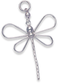 Silver Dragonfly Pendant 8116