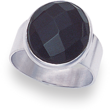 Silver Onyx Rings 2187ON
