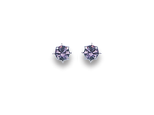 Silver Cubic Zirconia Stud Earrings 5756PP