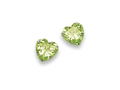 Silver Peridot Colour Cubic Zirconia Stud Earrings 5766PDZ