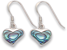 Silver Shell, reconstituted Turquoise & Onyx Plain Drop Earrings  7303PS
