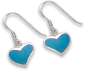 Silver Reconstituted Turquoise Earrings 7303TQ