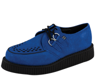 Trash Monkey ** TUK Electric Blue Suede Creepers
