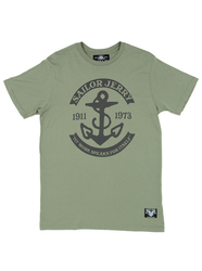 Sailor Jerry - History Bound Mens Tee in Olive