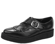 Trash Monkey** T.U.K. - Black Leather Pointed Creepers