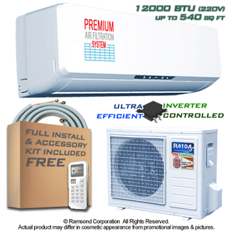 Ramsond R37GWi 12000 BTU Inverter Ductless Mini Split AC + Heat Pump