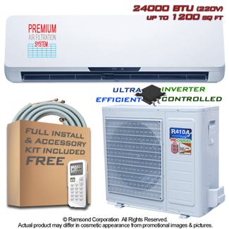 Ramsond R74GWi 24000 BTU Inverter Ductless Mini Split AC + Heat Pump