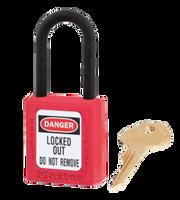 Master Lock #406 Safety Padlock with Nylon Shackle