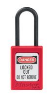 Master Lock #S32 Plastic Safety Padlock with Nylon Shackle. Not Key Retaining