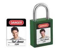 Master Lock #6835-5701 photo ID labels for safety padlocks (padlock not included)