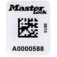 Master Lock barcode labels for safety padlocks & isolation point lockout tag